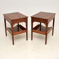 Pair of Antique Mahogany Side /  Bedside Tables (12 of 12)