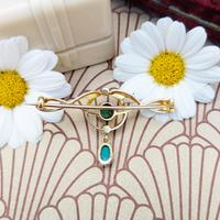 Antique Murrle Bennett 15ct Gold, Turquoise & Pearl Brooch, Art Nouveau Brooch (3 of 5)