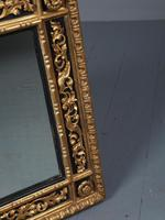 Antique Gilded & Ebonised Rectangular Wall Mirror (6 of 14)