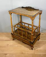 Victorian Inlaid Walnut Canterbury What Not (10 of 11)