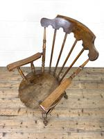 Antique Ash & Elm Armchair with Penny Seat (8 of 9)