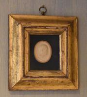 Framed Georgian Plaster Cast Profile Medallion (2 of 5)