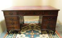 Mahogany Pedestal Desk (2 of 7)