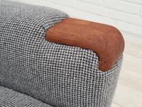 1960s, Restored Danish High-backed Armchair, Model Congo, Furniture Wool (7 of 13)