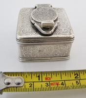 Beautiful silver travelling inkwell London c 1830 (3 of 8)