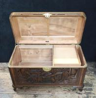 Oriental Carved Teak & Camphor Wood Chest - 1930s (15 of 15)