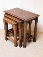 Solid Oak Nest of Three Tables (8 of 9)