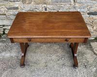 Antique Regency Mahogany Library Table (5 of 14)