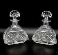 7 Piece Art Deco Glass Vanity Set with Perfume Bottles (3 of 7)