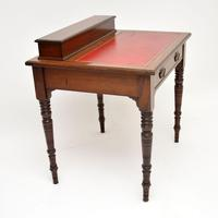 Antique Victorian Mahogany Leather Top Desk / Writing Table (5 of 13)