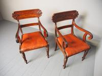 Pair of George IV Mahogany Armchairs (6 of 9)