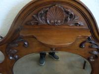 A lovely Mahogany Round Bevel Edged Mirror 1860's? (2 of 6)