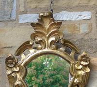 Antique Florentine Shield Shape Mirror (2 of 5)