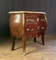 French Stamped Louis XV Kingwood Bombe Commode (8 of 13)