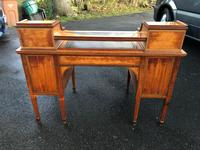 Inlaid Satinwood Carlton House Desk By Maple & Co (9 of 16)