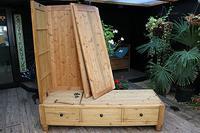 Huge! Old Pine Triple 'Knock Down' Combination Wardrobe - We Deliver! (15 of 21)