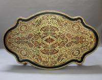 French Napoleon III Louis XV Style Boulle Writing or Centre Table (3 of 16)