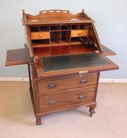 Antique Mahogany Small Bureau Writing Desk (6 of 11)