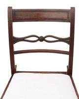 Pair of Georgian mahogany dining side hall bedroom chairs C1800 (6 of 7)