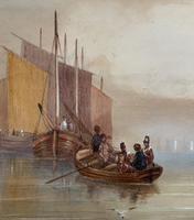 19th Century British School - Masted Ships - Military - Marine - Watercolour Painting (7 of 10)
