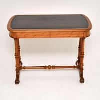 Antique Victorian Satinwood Writing Table by Heal & Son (2 of 15)