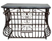 Wrought Iron & Slate Console Tables (3 of 4)