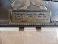 Bronzed Metal Calendar Signed Alex Henshaw MBE 1941 (11 of 13)