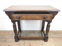 Early 20th Century Antique Oak Side Table (3 of 10)
