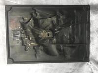 Antique Art Nouveau Marine Bronze Relief Wall Plaque Spanish Galleon Ship 1668 (10 of 21)