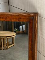 19th Century French Burr Walnut Wall Mirror (3 of 19)