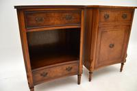 Pair of Georgian Style Burr Walnut Bedside Cabinets c.1930 (5 of 11)