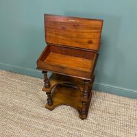 Stunning Victorian Walnut Antique Davenport Whatnot (5 of 10)