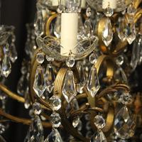 Italian Gilt & Crystal 21 Light Antique Chandelier (6 of 10)