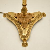 Antique French Style Brass Floor Lamp (3 of 8)