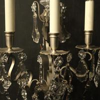 French Pair of Silver Gilded Wall Sconces (6 of 10)