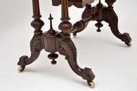 Antique Victorian Burr Walnut Games & Work Table (4 of 14)