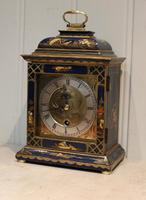 Small Blue Chinoiserie Bracket Clock (3 of 11)