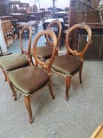 4 Victorian Walnut Chairs (3 of 5)