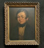 Beautiful Late 18th Century Georgian Oil Portrait Painting of a Young Handsome Chap