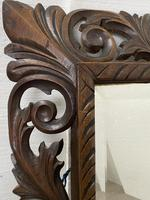 Carved Oak Mirror - Late 19th Century (6 of 6)