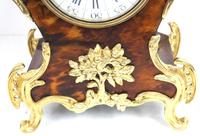 Antique French Shell & Ormolu 8-Day Striking Mantel Clock Rococo Boulle Case Segment Dial Signed (9 of 13)