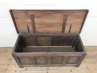 Antique Oak Panelled Coffer (3 of 8)