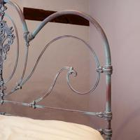 King Size Late Victorian Cast Iron Platform Bed (6 of 9)