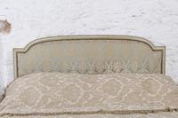 Original French upholstered king size bed with matching bedsides (2 of 9)
