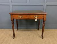 Victorian Walnut 2 Drawer Writing Table (2 of 15)