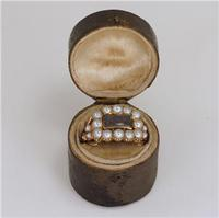 Georgian 15ct Gold Pearl Antique Memorial English Ring c.1800 (8 of 20)