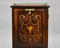 Victorian Rosewood Inlaid Coal Purdonium by Jas Shoolbred (3 of 16)
