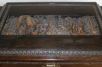 Chinese relief carved camphorwood coffer with an ebonised finish (20 of 23)