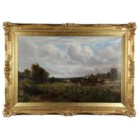 Country Scene with Hay Cart by Charles Thomas Burt (13 of 14)