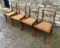 Set of 4 Regency Rosewood Sabre Leg Dining Chairs (6 of 15)